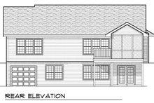 Ranch Exterior - Rear Elevation Plan #70-802