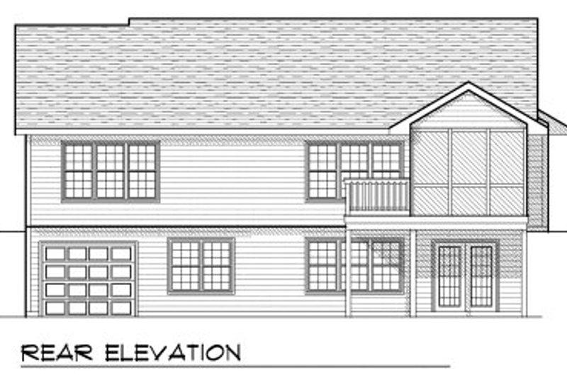 Ranch Exterior - Rear Elevation Plan #70-802 - Houseplans.com