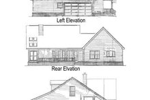 Home Plan - Country Exterior - Rear Elevation Plan #14-214