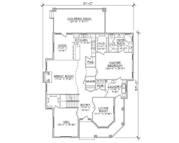 Victorian Floor Plan - Main Floor Plan Plan #5-420