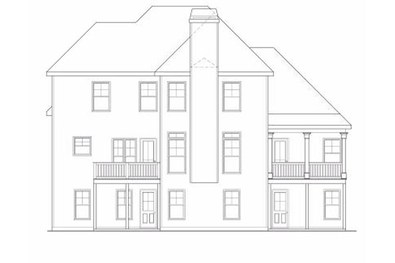 Traditional Exterior - Rear Elevation Plan #419-110 - Houseplans.com