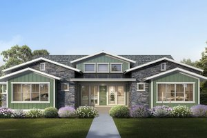 Dream House Plan - Craftsman Exterior - Front Elevation Plan #1073-14