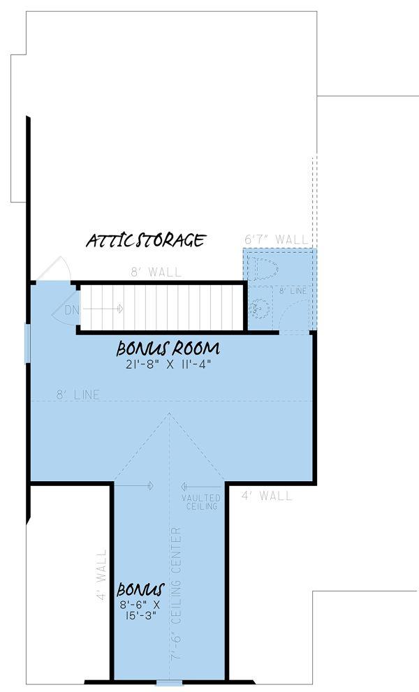 Farmhouse Floor Plan - Upper Floor Plan #923-157