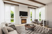 Contemporary Style House Plan - 2 Beds 2 Baths 1323 Sq/Ft Plan #23-2727 Interior - Family Room
