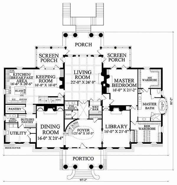 Home Plan - Classical Floor Plan - Main Floor Plan #137-211