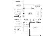 1700 square foot modern 3 bedroom 2 bath house plan