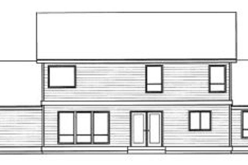 Traditional Exterior - Rear Elevation Plan #94-212 - Houseplans.com