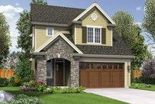Cottage Exterior - Front Elevation Plan #48-575