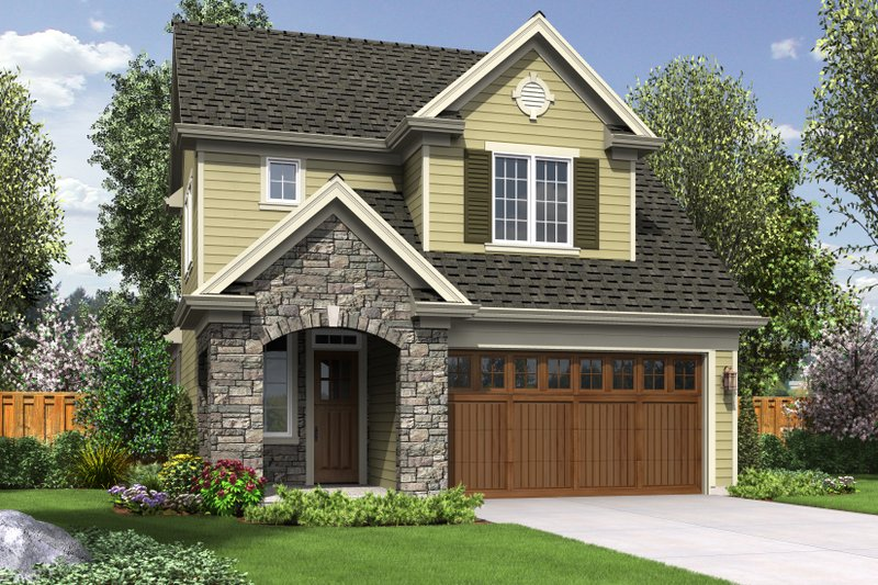 Cottage Style House Plan - 3 Beds 2.5 Baths 1712 Sq/Ft Plan #48-575 Exterior - Front Elevation