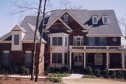 European Style House Plan - 5 Beds 4.5 Baths 4463 Sq/Ft Plan #119-315 Exterior - Front Elevation