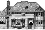 Traditional Style House Plan - 4 Beds 3.5 Baths 3283 Sq/Ft Plan #20-1107 Exterior - Rear Elevation
