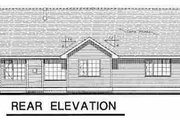 Ranch Style House Plan - 2 Beds 2 Baths 1265 Sq/Ft Plan #18-1022 Exterior - Rear Elevation