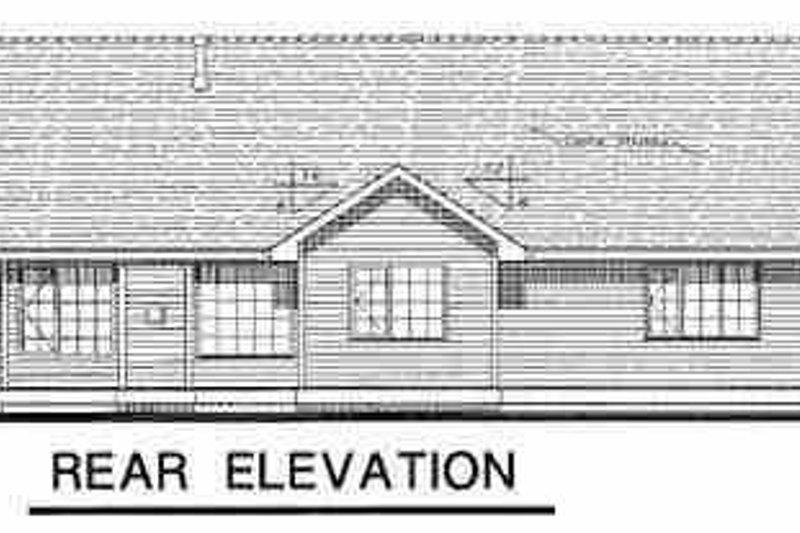 Ranch Exterior - Rear Elevation Plan #18-1022 - Houseplans.com
