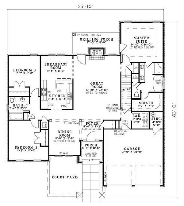 European Floor Plan - Main Floor Plan #17-109