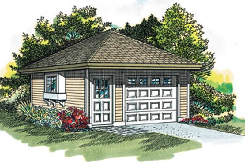 Traditional Exterior - Front Elevation Plan #47-489