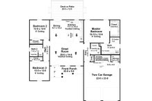 Country Floor Plan - Main Floor Plan Plan #21-454