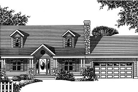Traditional Exterior - Front Elevation Plan #12-233