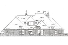 Dream House Plan - European Exterior - Rear Elevation Plan #310-980