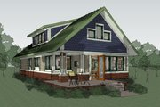 Craftsman Style House Plan - 2 Beds 2 Baths 1600 Sq/Ft Plan #454-13 Exterior - Other Elevation