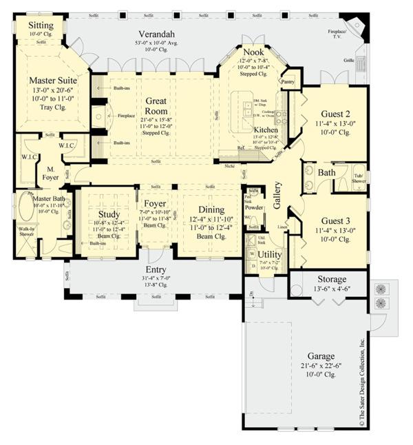 Home Plan - Contemporary Floor Plan - Main Floor Plan #930-500