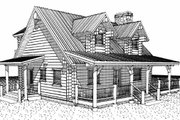 Log Style House Plan - 2 Beds 2 Baths 1427 Sq/Ft Plan #451-12 Exterior - Other Elevation