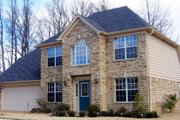 European Style House Plan - 3 Beds 2.5 Baths 1658 Sq/Ft Plan #81-13867 Exterior - Front Elevation