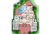 European Style House Plan - 4 Beds 5 Baths 5126 Sq/Ft Plan #27-363 Floor Plan - Main Floor Plan
