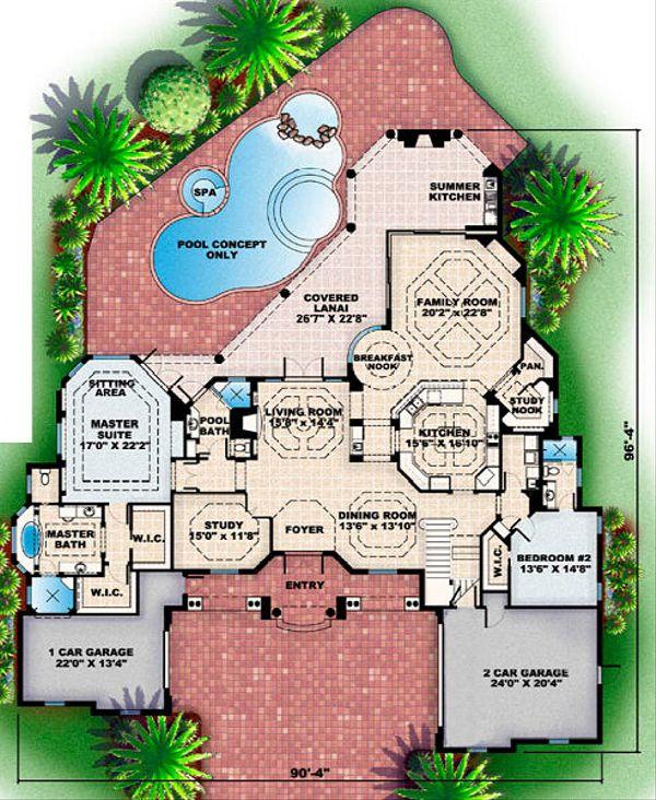 European Floor Plan - Main Floor Plan Plan #27-363