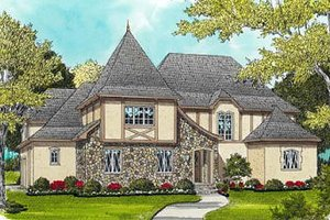 Dream House Plan - European Exterior - Front Elevation Plan #413-123