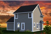 Traditional Style House Plan - 3 Beds 2.5 Baths 1398 Sq/Ft Plan #70-1187 Exterior - Rear Elevation