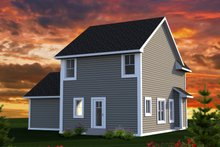 Dream House Plan - Traditional Exterior - Rear Elevation Plan #70-1187