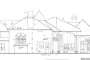 European Style House Plan - 4 Beds 5.5 Baths 6250 Sq/Ft Plan #135-101 Exterior - Rear Elevation