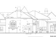 European Style House Plan - 4 Beds 5.5 Baths 6250 Sq/Ft Plan #135-101 Exterior - Rear Elevation