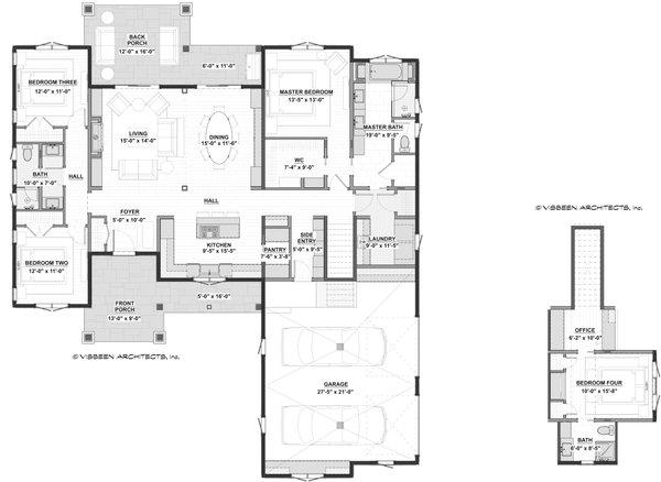 Dream House Plan - Farmhouse Floor Plan - Main Floor Plan #928-356