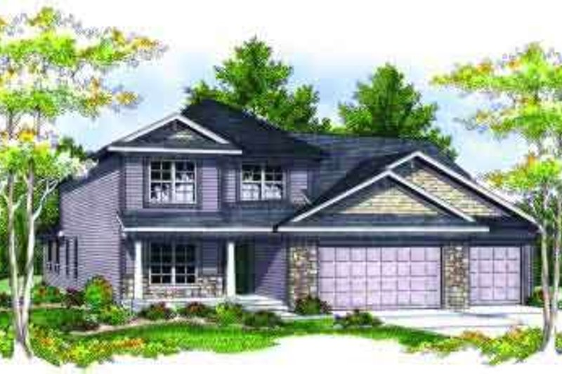 Traditional Style House Plan - 4 Beds 3 Baths 2257 Sq/Ft Plan #70-686 Exterior - Front Elevation