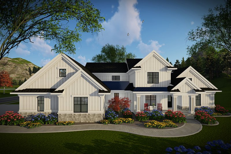 Home Plan - Farmhouse Exterior - Front Elevation Plan #70-1469