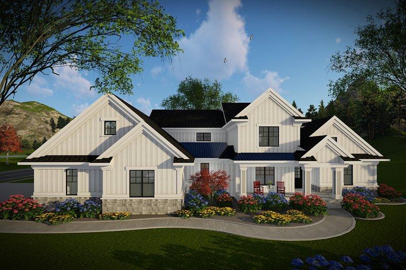 Dream House Plan - Farmhouse Exterior - Front Elevation Plan #70-1469