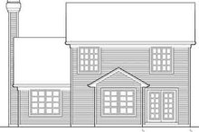 Dream House Plan - Traditional Exterior - Rear Elevation Plan #48-196