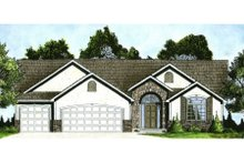 Architectural House Design - Ranch Exterior - Front Elevation Plan #58-197