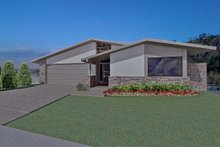 Architectural House Design - Ranch Exterior - Front Elevation Plan #489-2