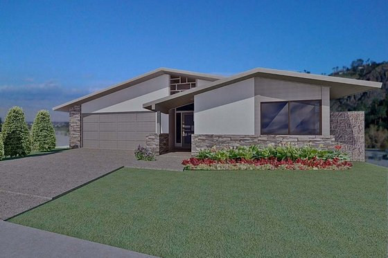 Ranch Exterior - Front Elevation Plan #489-2