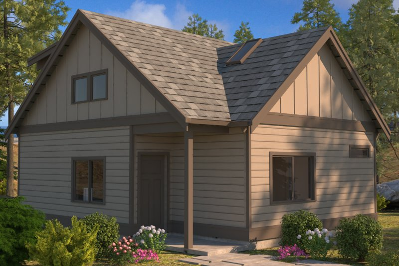 Architectural House Design - Craftsman Exterior - Front Elevation Plan #895-97
