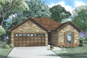 Cottage Style House Plan - 3 Beds 2 Baths 1169 Sq/Ft Plan #17-2535 Exterior - Front Elevation