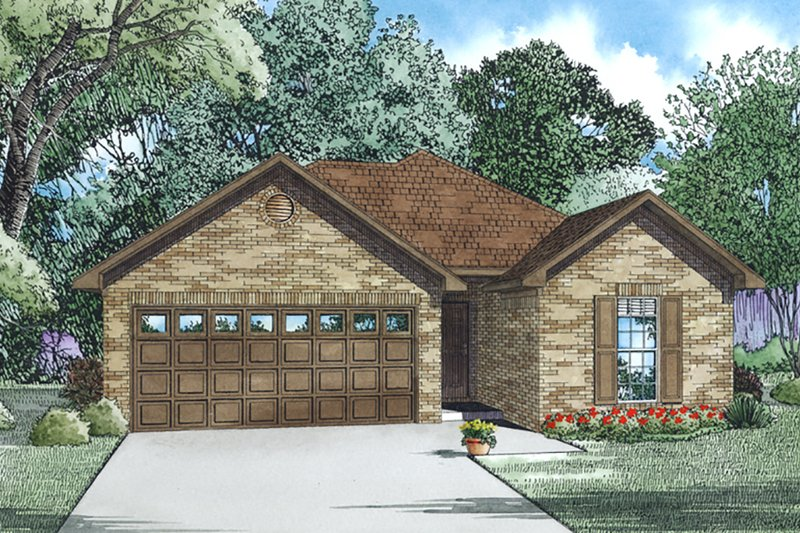 Cottage Style House Plan - 3 Beds 2 Baths 1169 Sq/Ft Plan #17-2535