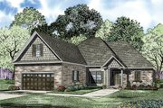 European Style House Plan - 3 Beds 2 Baths 1629 Sq/Ft Plan #17-2378 Exterior - Front Elevation