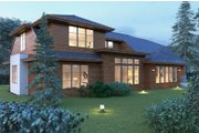 Modern Style House Plan - 4 Beds 3.5 Baths 3809 Sq/Ft Plan #1066-53 Exterior - Rear Elevation