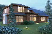 House Plan Design - Modern Exterior - Rear Elevation Plan #1066-53