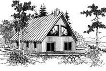 Dream House Plan - Modern Exterior - Front Elevation Plan #60-336