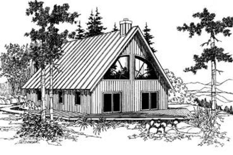Modern Exterior - Front Elevation Plan #60-336 - Houseplans.com