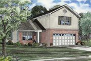 Traditional Style House Plan - 3 Beds 2.5 Baths 1286 Sq/Ft Plan #17-427 Exterior - Front Elevation